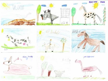 Výlet na detskej farme Humanita z Bratislavy. Celodennbý výlet medzi zvieratmi
