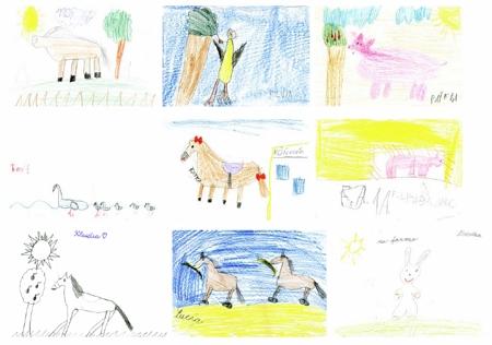 zvieratá - nkreslili sme si obrázky